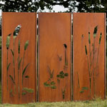 Sichtschutz Gartenwand Triptychon 225x195 cm