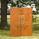Sichtschutz Gartenwand Diptychon 150x195 cm